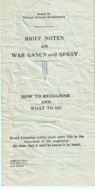 Image for Brief Notes on War Gases and Spray