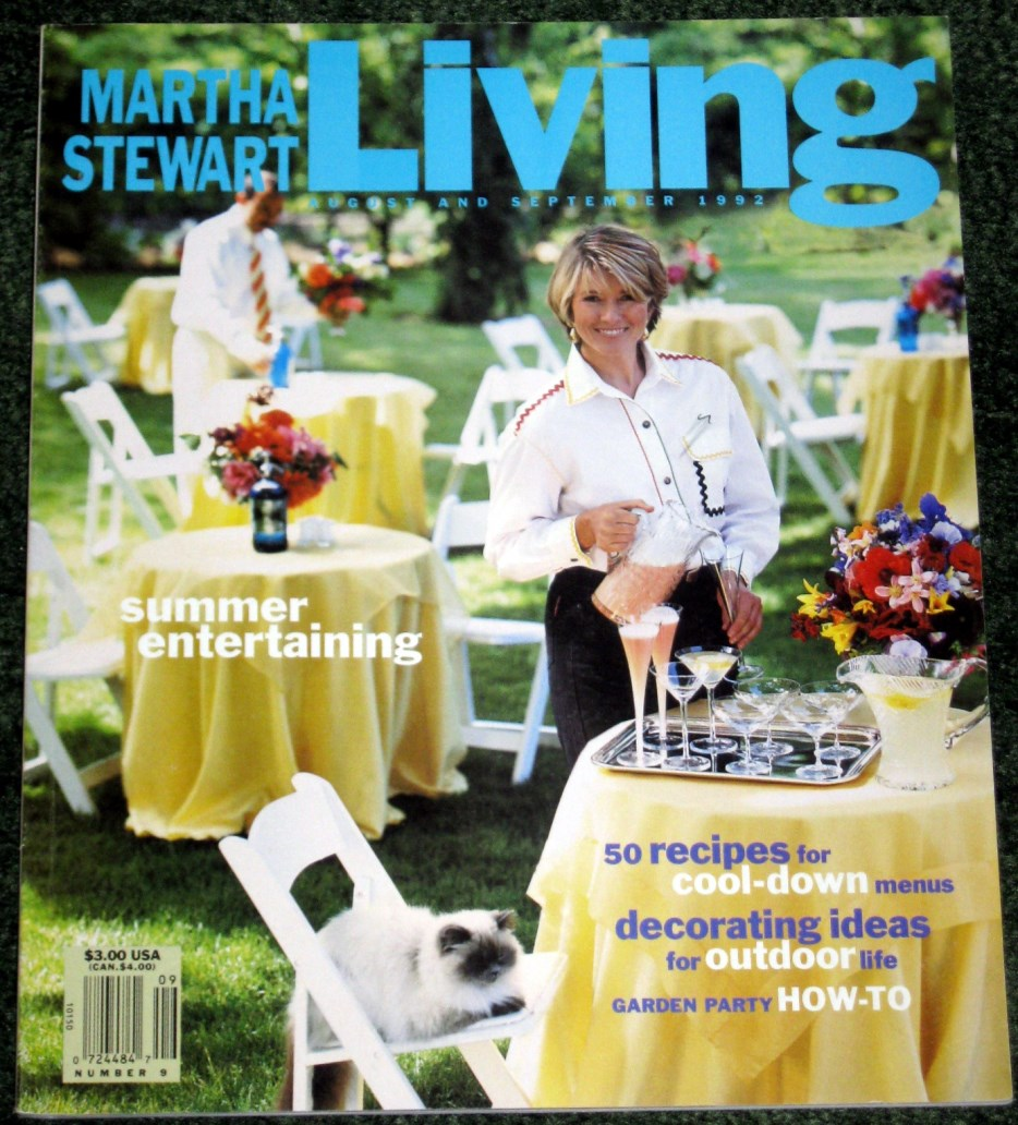 Image for Martha Stewart Living #9  Summer Entertaining August September 1992