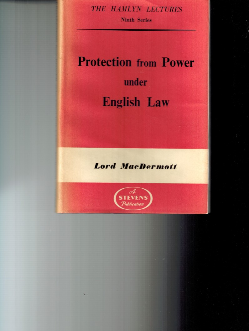 Image for Protection from Power under English Law - The Hamlyn Lectures Ninth Series
