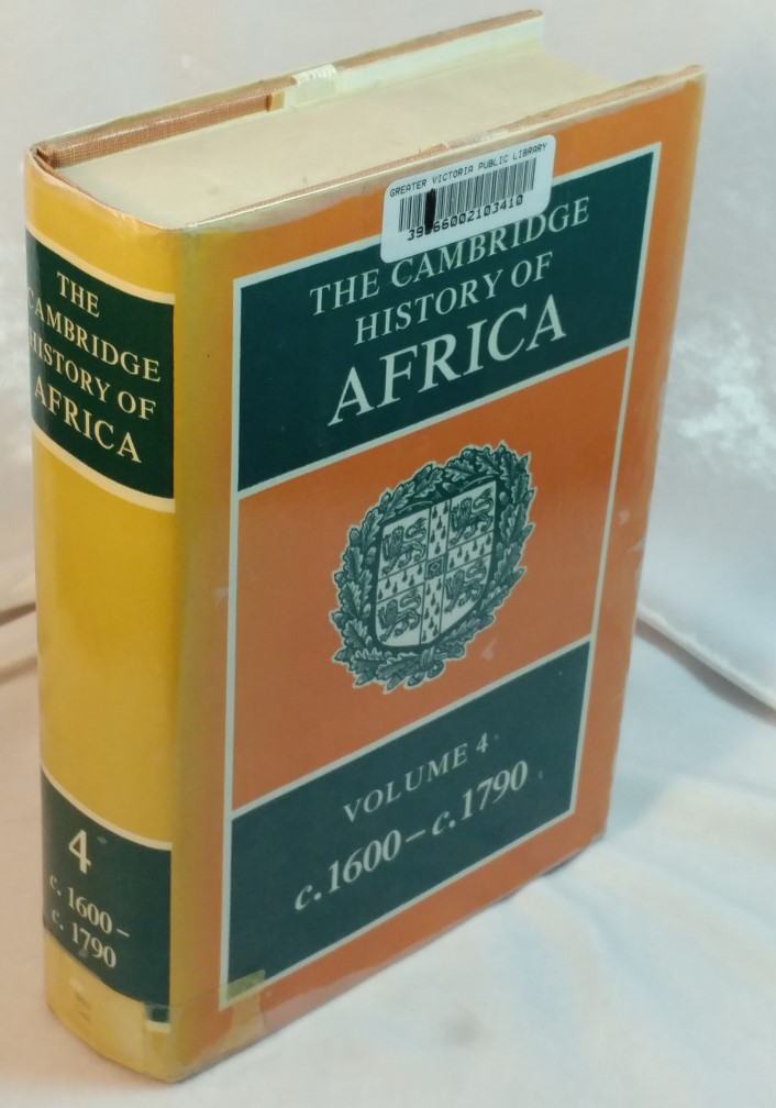 Image for The Cambridge History of Africa : Volume 4 c.1600 to c.1790