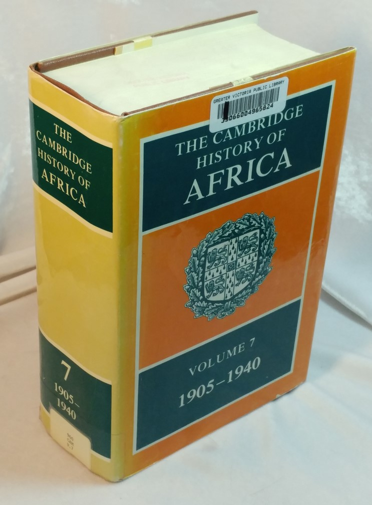 Image for The Cambridge History of Africa : Volume 7 1905 to 1940